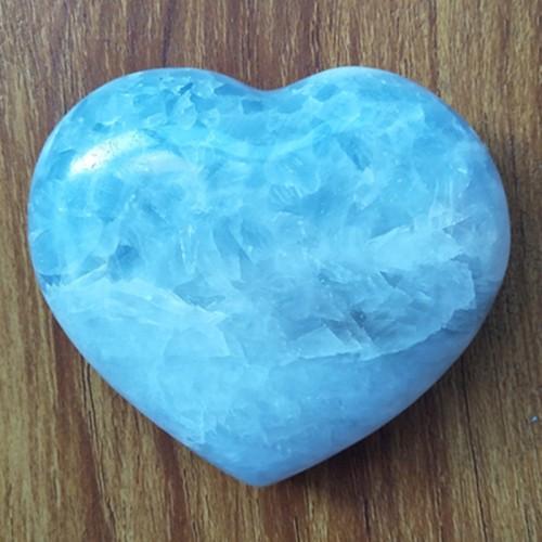 """Figūrėlė """"Mėlynoji širdelė 3"""" (celestitas, 302 g.)"""