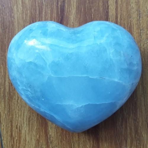 """Figūrėlė """"Mėlynoji širdelė 4"""" (celestitas, 387 g.)"""