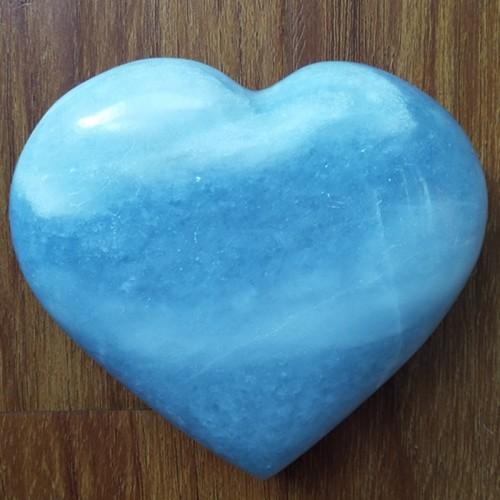 """Figūrėlė """"Mėlynoji širdelė 5"""" (celestitas, 394 g.)"""