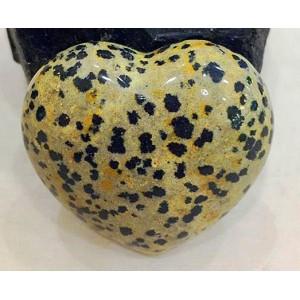 "Figūrėlė ""Leopardinė širdelė"" (kvarco kristalas, 5 cm, 50 g)"