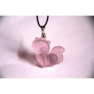 """Pakabuko figūrėlė """"Rožinė laputė 2"""" (rožinis kvarcas)"""