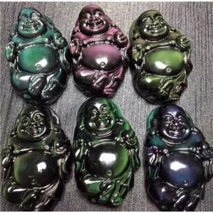 """""""Buda"""" (obsidianas, 40 - 60 mm)"""