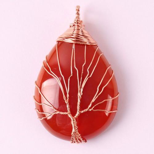 """Pakabukas """"Laimės medis 2"""" (raudonasis agatas)"""
