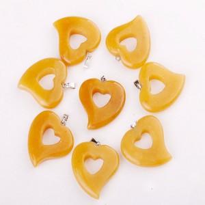 """Pakabukas """"Žavioji širdelė 6"""" (geltonasis jadas)"""