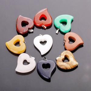 """Pakabukas """"Žavioji širdelė 10"""" (įvairių akmenukų)"""