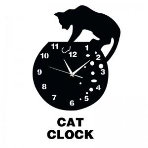 """Sieninis laikrodis """"Katino laikrodis"""""""