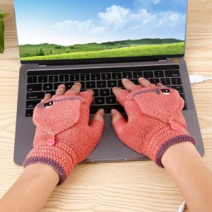"""Šildančios pirštinės """"Jaukūs žiemos vakarai prie kompiuterio 4"""" (USB)"""