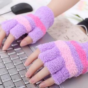 """Šildančios pirštinės """"Jaukūs žiemos vakarai prie kompiuterio 7"""" (USB, medvilnė)"""