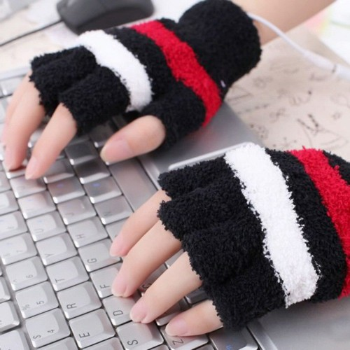 """Šildančios pirštinės """"Jaukūs žiemos vakarai prie kompiuterio 9"""" (USB, medvilnė)"""