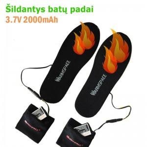 """Elektroniniai šildantys vidiniai batų padai """"Šildanti erdvė"""" (įkraunamos baterijos)"""