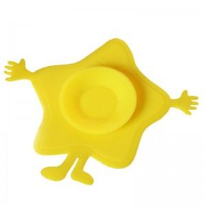 """Vaikiški silikoniniai lipdukai indams """"Tikras smagumėlis"""" (4 vnt.)"""