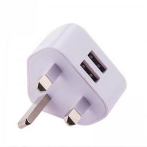 """UK į 2 USB elektros lizdo perėjimas """"Išvažiuoju į UK"""""""