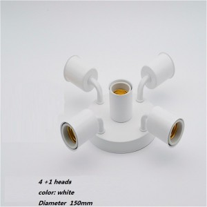 """5 lempų šviestuvas """"Stiliaus elegancija 8"""" (E27, labai kokybiškas)"""