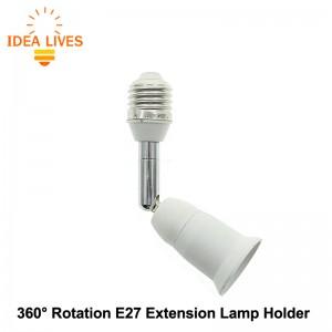 Lempos lizdo prailgintojas E27 (360 laipsnių pasukamas, labai kokybiškas)