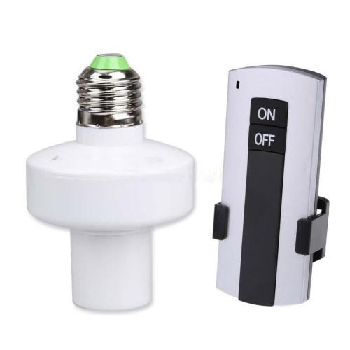 """Nuotoliniu būdu valdoma lempa """"Tebūnie šviesa"""" (E27, iš ugniai atsparių medžiagų, wireless, 1 vnt.)"""