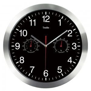 """Sieninis laikrodis """"Tobulumas 4"""" (su temperatūros matavimu, tylus)"""