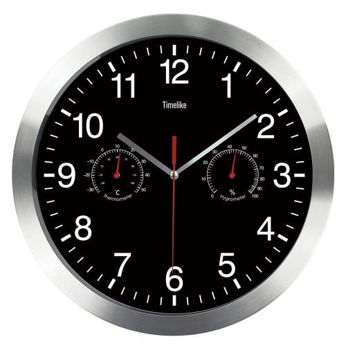 """Sieninis laikrodis """"Tobulumas 4"""" (su temmperatūros matavimu, tylus)"""