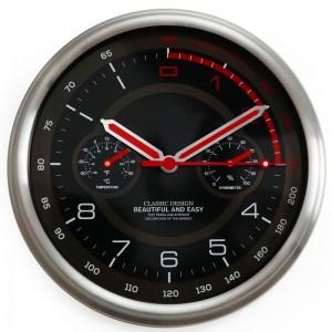 """Sieninis laikrodis """"Tobulumas 5"""" (su temperatūros matavimu, tylus)"""