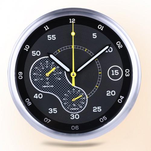 """Sieninis laikrodis """"Tobulumas 6"""" (su temmperatūros matavimu, tylus)"""