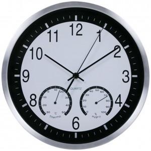 """Sieninis laikrodis """"Tobulumas 8"""" (su temperatūros matavimu, tylus)"""