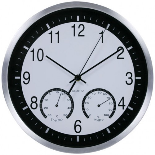 """Sieninis laikrodis """"Tobulumas 8"""" (su temmperatūros matavimu, tylus)"""