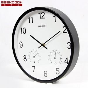 """Sieninis laikrodis """"Tobulumas 9"""" (su temperatūros matavimu, tylus)"""