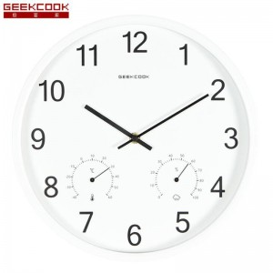 """Sieninis laikrodis """"Tobulumas 10"""" (su temperatūros matavimu, tylus)"""