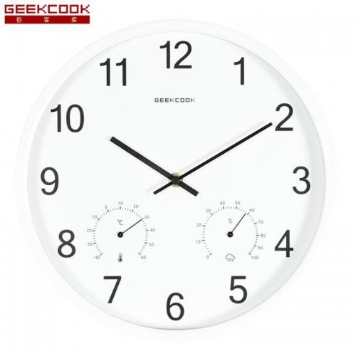 """Sieninis laikrodis """"Tobulumas 10"""" (su temmperatūros matavimu, tylus)"""