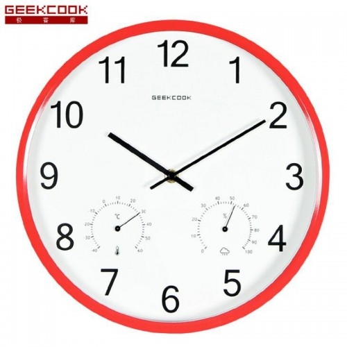 """Sieninis laikrodis """"Tobulumas 12"""" (su temmperatūros matavimu, tylus)"""