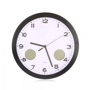 """Sieninis laikrodis """"Tobulumas 2"""" (su temperatūros matavimu, tylus)"""