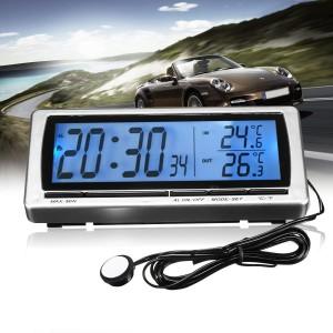 """Automobilio LCD laikrodis - termometras """"Profesionalas 3"""""""