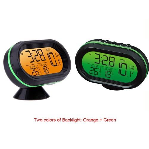 """Automobilio LCD laikrodis - termometras """"Tikslumas"""""""