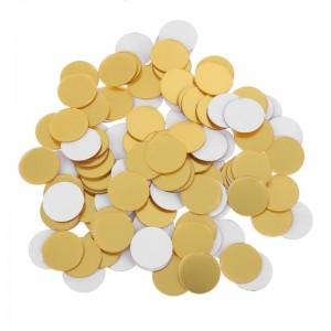 """Veidrodiniai lipdukai """"Auksiniai rutuliai"""" (2 x 2 cm, 100 vnt.)"""
