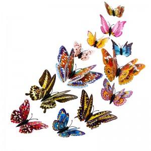 """Veidrodiniai lipdukai """"Puikieji drugeliai"""" (12 vnt.)"""