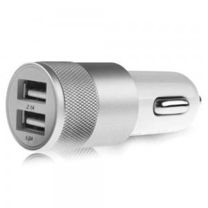 """USB įkroviklis automobiliui """"Greitai pakrausiu 6"""" (5V 2.1A, 1A)"""