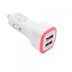"""USB įkroviklis automobiliui """"Greitai pakrausiu 8"""" (5V 2.1A, 1A)"""