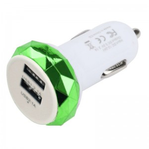 """USB įkroviklis automobiliui """"Greitai pakrausiu 14"""" (5V 2.1A, 1A)"""