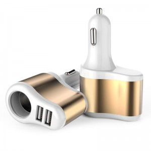 "USB įkroviklis automobiliui ""Stiliaus elegancija 2"" (5V 2.1A, 1A)"