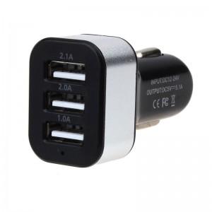 "USB įkroviklis automobiliui ""Universalas 5"" (5V 2.1A, 2A, 1A)"