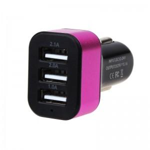 "USB įkroviklis automobiliui ""Universalas 6"" (5V 2.1A, 2A, 1A)"