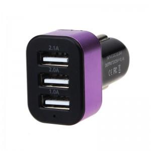 "USB įkroviklis automobiliui ""Universalas 4"" (5V 2.1A, 2A, 1A)"