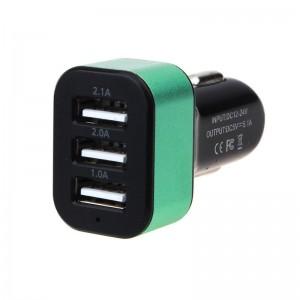 "USB įkroviklis automobiliui ""Universalas 3"" (5V 2.1A, 2A, 1A)"