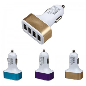 "USB įkroviklis automobiliui ""Universalas 14"" (5V 2.1A, 1A)"