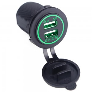"USB įkroviklis automobiliui ""Profesionalas 3"" (5V 2.1A, 1A)"