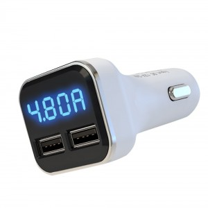 "USB įkroviklis automobiliui ""Profesionalas 12"" (5V  2.4A x 2)"