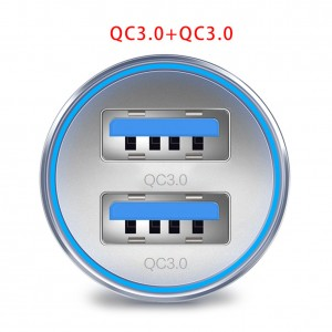 """USB įkroviklis automobiliui """"Profesionalas 15"""" (3.0 x 2)"""