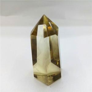 """Natūralus mineralas """"Geltonasis obeliskas"""" (citrinas, 4 cm, 40 g)"""
