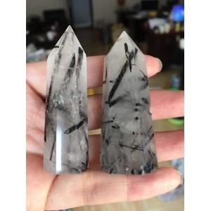 """Natūralus mineralas """"Modernus obeliskas 4"""" (turmalino kvarco kristalas, 55 g)"""