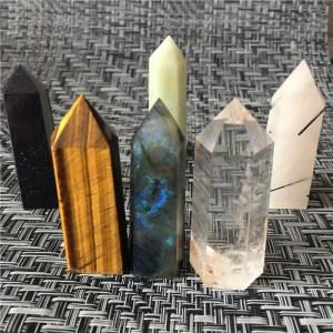 """Natūralus mineralas """"Puikieji obeliskai 3"""" (6.5 cm, 250 g, 3 vnt)"""