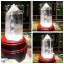 """Natūralus mineralas """"Puikusis skaidrusis obeliskas 2"""" (floritas, 13-14 cm)"""